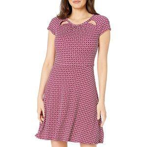 Michael Kors Tile Dot Fit and Flare Dress